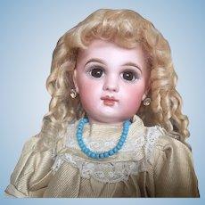 Lush Blonde Mohair wig for Bébé or German Doll