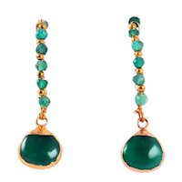 Designs by Ali Wire Wrapped and Green Onyx Earrings