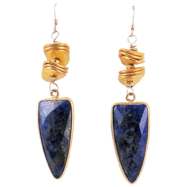 ladies sterling lazuli silver handmade earrings shop lapis