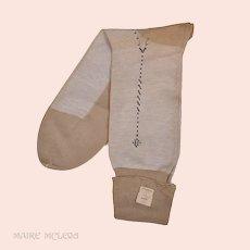 Vintage Mens Finest 1940s-50s Socks - Seam in Back, NOS 12