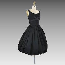 1950s Bubble Hem Cocktail Party Dress - XS / S