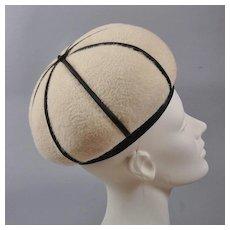 Vintage 1960s Hat -  Onion Dome Toque by André Paris, NY