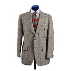 Vintage Tweed Sport Coat Jacket, Sport Back Western details - 42L