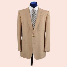 Vintage 80s Christian Dior Linen Sport Coat Jacket 42-43 L