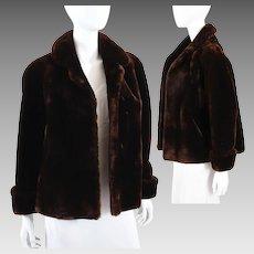 Vintage Womens Mouton Lamb Jacket Coat 1940s - Famous Barr