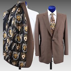 Bespoke 1980s Sport Coat Jacket, Pucci Chicago 41 - 42L