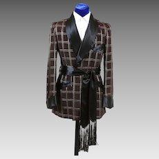 Posh Mens Vintage Smoking Jacket 1940s - S/M