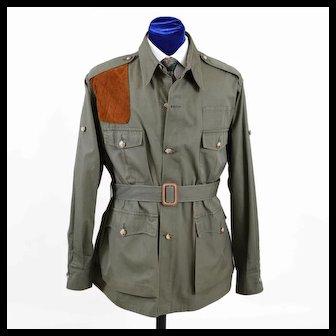 Vintage Mens Abercrombie & Fitch Safari Hunting Jacket Shirt L - XL (46)