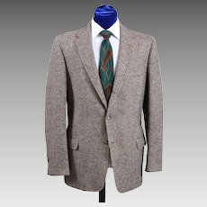 Vintage 60s-70s Men's Harris Tweed Check Sport Coat Jacket 41-42
