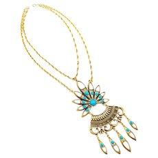 Vintage 1970's Large Egyptian Revival Necklace