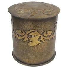 Silver Crest Bronze Cigarette Smoking Set