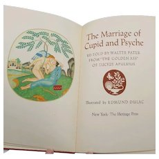 Heritage Press 1951 Book The Marriage of Cupid and Psyche Illustrated by Edmond Dulac