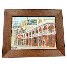 Almarie Pittman Little Painting Antoine's Restaurant New Orleans
