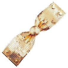 Vintage Gold Mesh Bracelet 1960s RAU Fastener Company Providence RI