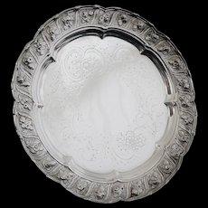 Antique Silver Salver Tray, London 1825, Joseph Craddock