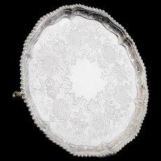 Antique Silver Salver Tray, Richard Rugg I, London 1768