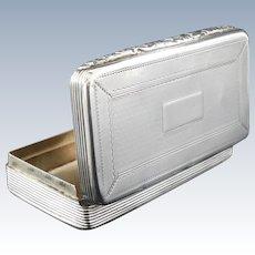 Silver Snuff Box Antique, Birmingham 1835, Edward Smith