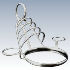 Unusual Silver Toast Rack, Birmingham 1908, Hukin & Heath