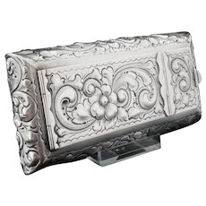 Silver Travel Folding Mirror Make Up Box, Sterling, c.1900, William B. Durgin Co