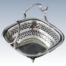 Gorgeous Silver Basket, Sheffield 1927, Martin Hall & Co Ltd