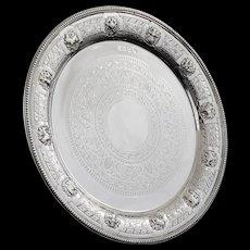 Scottish Silver Zodiac Salver, Glasgow 1902, Lawson & Co