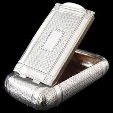 Silver Snuff Box, Birmingham 1810, Joseph Willmore