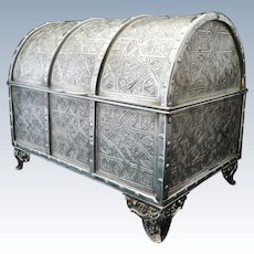 Large Silver Jewelry Casket, 20th Century, 900/1000