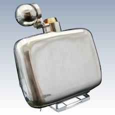 Antique Silver Hip Flask, London 1884