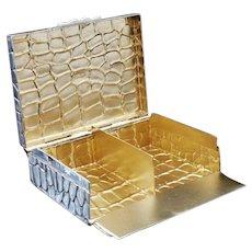 2 Compartment Silver Card Box, Birmingham 1900, Lawrence Emanuel