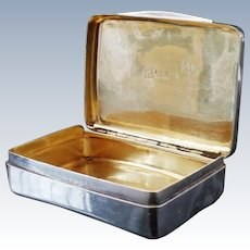 Rare YORK Silver Snuff Box 1807, with the York Town Mark, Cattle & Barber