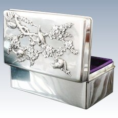 Chinese Export Silver Jewellery Box, Wang Nam & Co c.1900