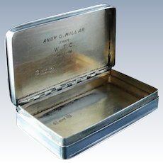 Nathaniel Mills Silver Snuff Box, Birmingham 1834, English Antique