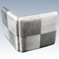 Russian Silver Cigarette Case, Kyril Albrecht (Court Supplier) c.1885