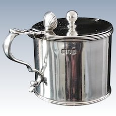 Large Silver Mustard Pot, London 1910, Holland, Aldwinckle & Slater
