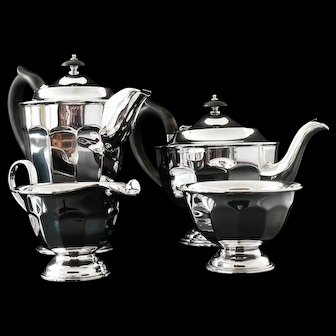 Immaculate Four Piece Silver Tea Set, Sheffield 1948/50, Emile Viner