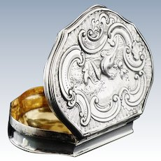 Antique Silver Snuff Box, Robert Cox c.1750