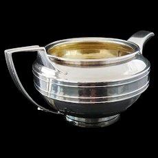Silver Cream Jug of Tea Pot Form, London 1807, John Emes, CRESTED, Antique