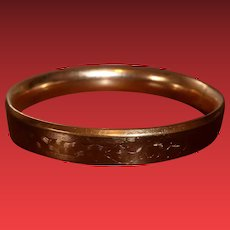Vintage Gold Plated Bangle Bracelet