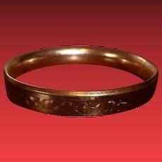 Vintage Gold Plated Bangle Bracelet