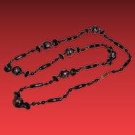 "Vintage Italian Venitian Glass Beaded Necklace 32"""