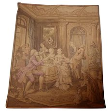 Vintage Tapestry Textile Made in Belgium - Red Tag Sale Item
