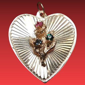 Vintage 14kt Gold Heart Charm Pendant