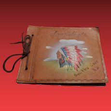 Vintage Leather Snap Shots Indian Photo Album