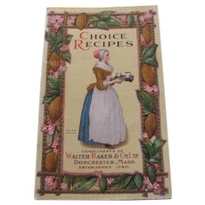 1916 Walter Baker Chocolate Choice Recipe Booklet
