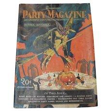 Halloween Dennison 1927 Oct Nov Party Magazine