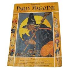 Halloween Dennison 1928 Oct Nov Party Magazine