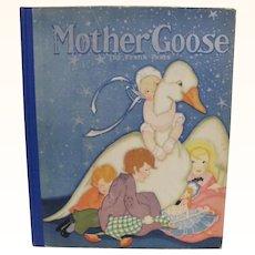 1929 Mother Goose Book Illustrated Fern Bisel Peat