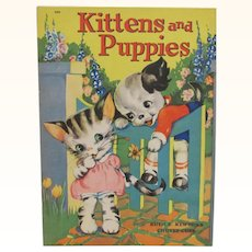 1940 Kittens and Puppies Children's Book