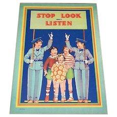 1934 Stop Look & Listen Children's Book