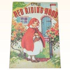 1937 Little Red Riding Hood Children's Book
